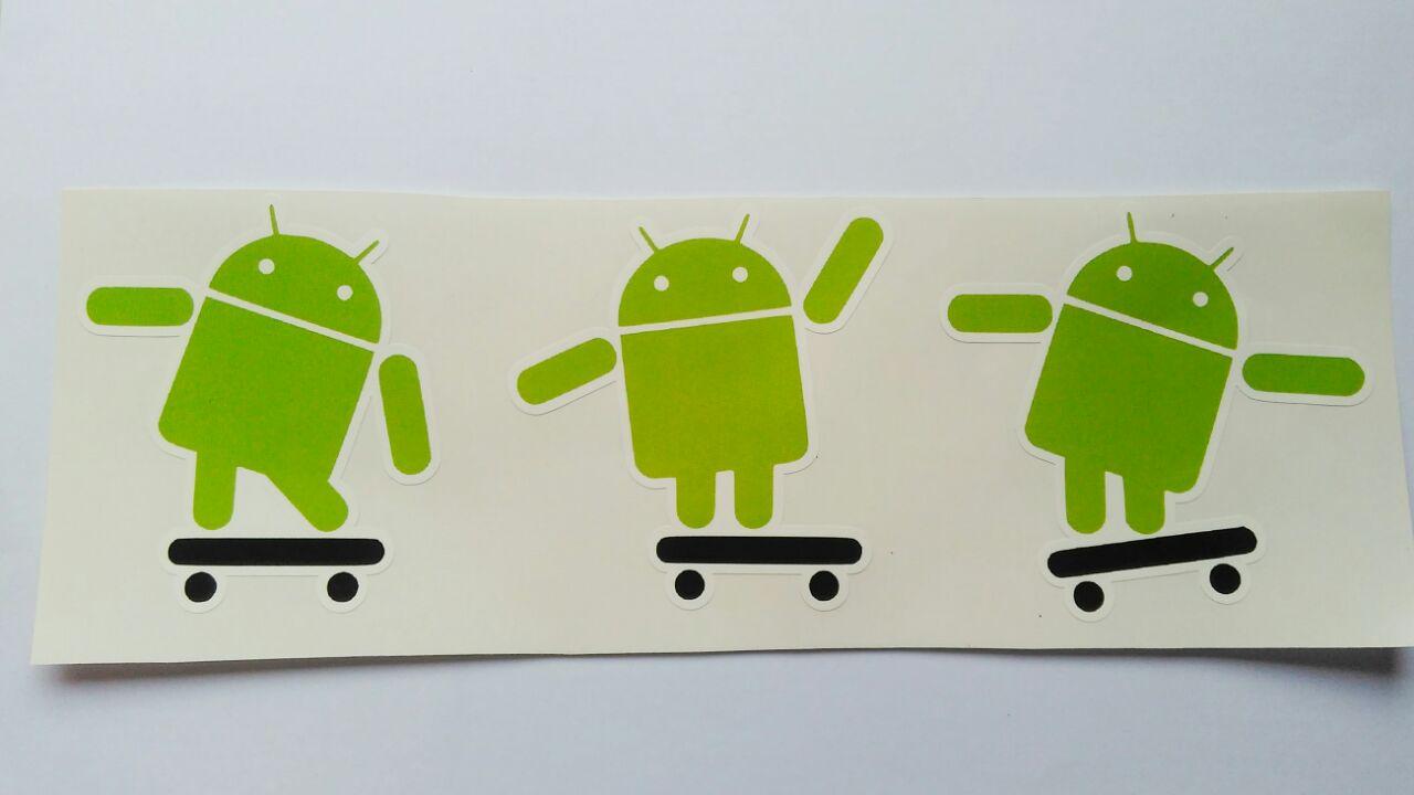 Stiker Android Skate - Vinyl Cut 1