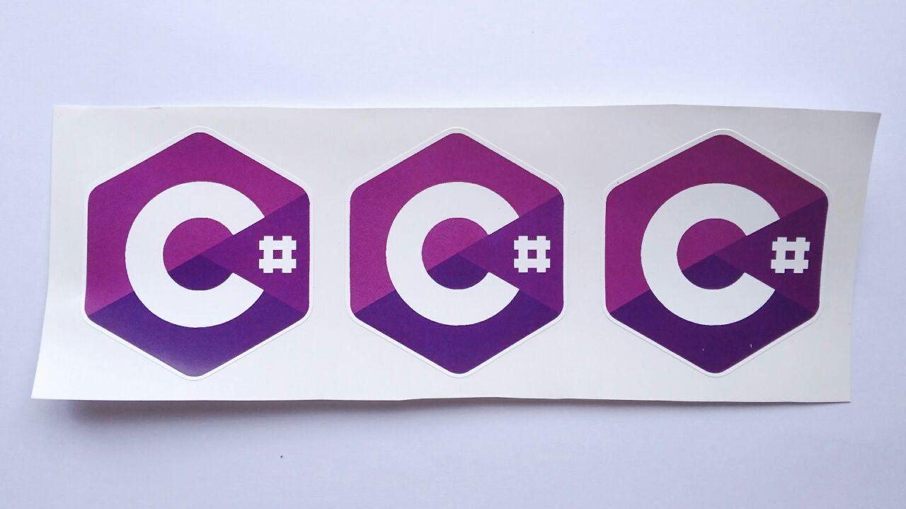 Stiker C# - Vinyl Cut 1