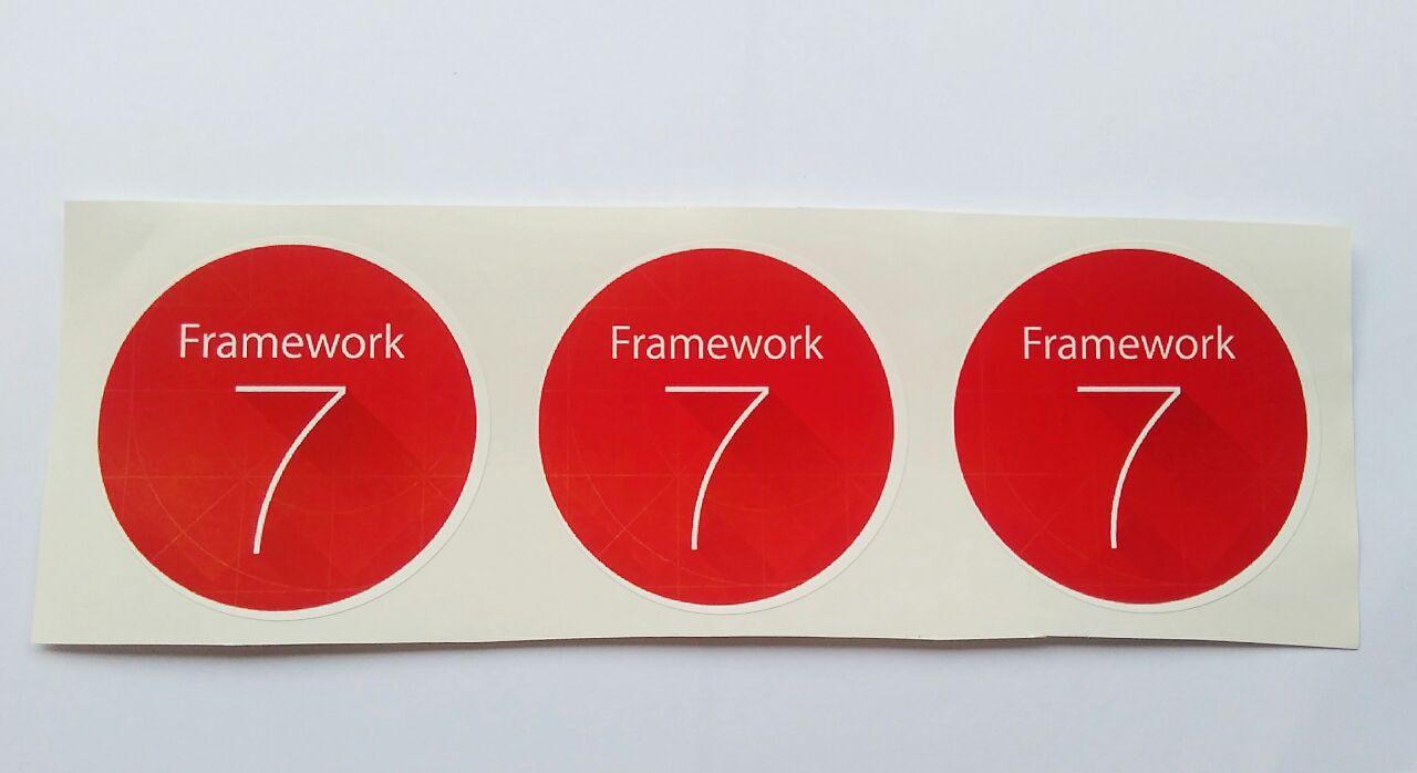 Stiker Framework 7- Vinyl Cut 1