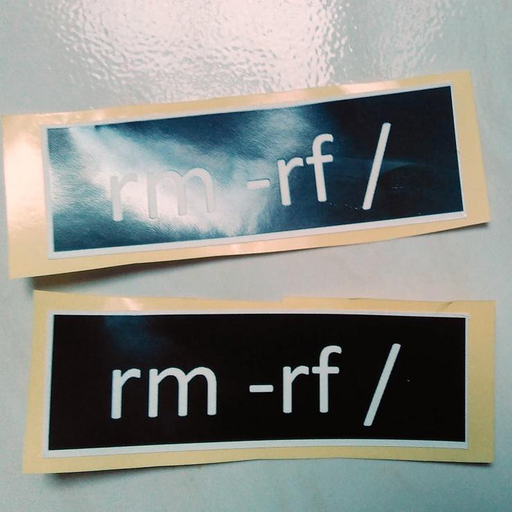 Stiker Rm -rf - Vinyl Cut 1