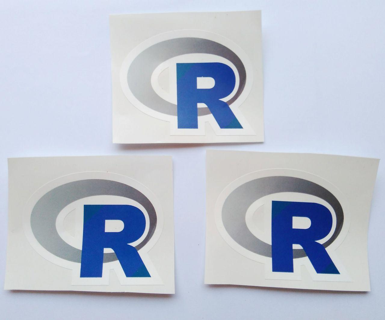 Stiker R - Vinyl Cut 1