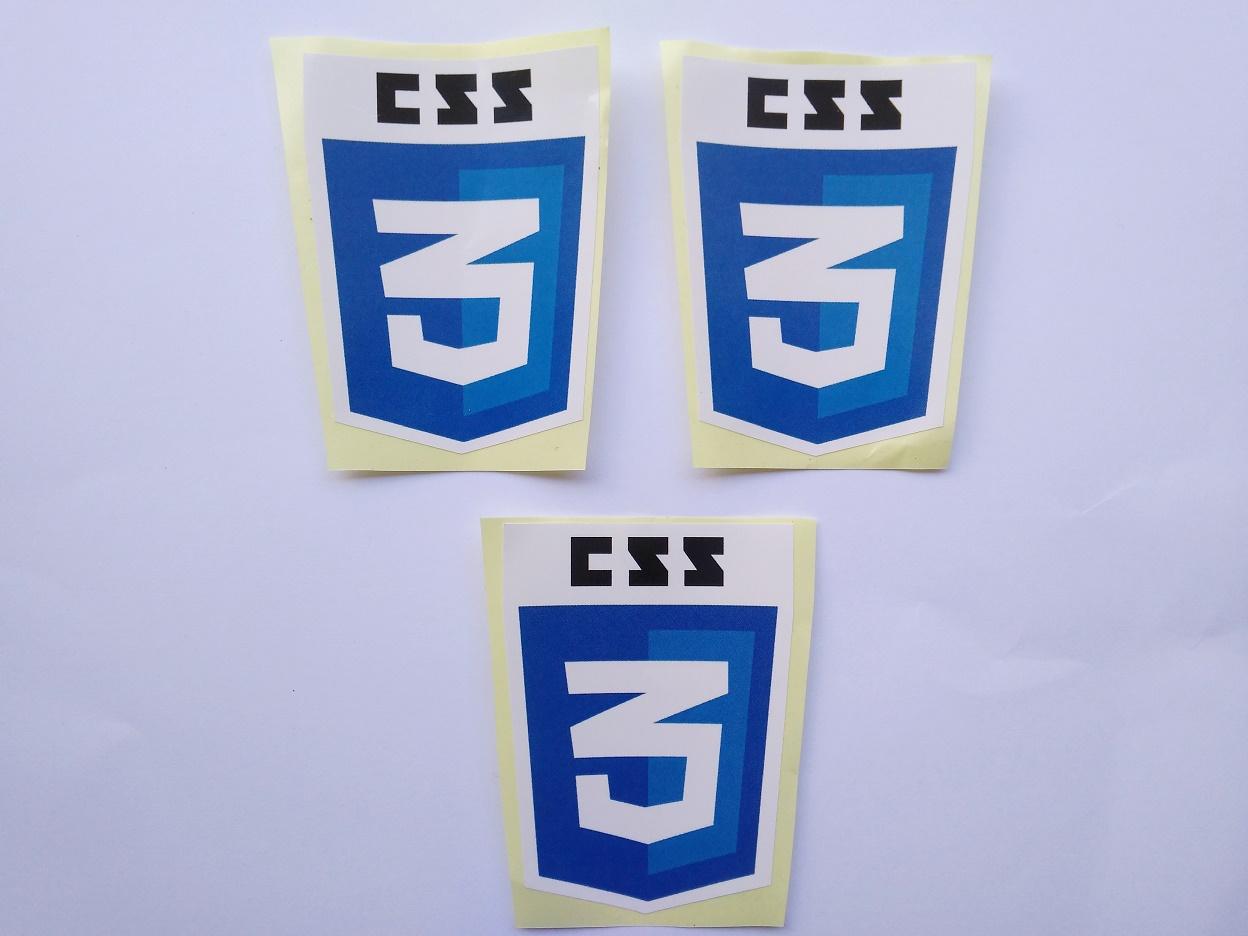 Stiker CSS3 - Vinyl Cut 1