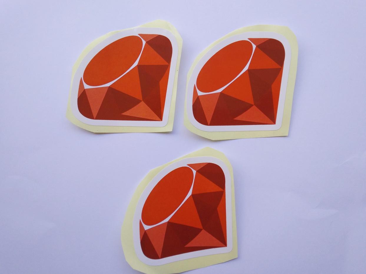 Stiker Ruby - Vinyl Cut 1