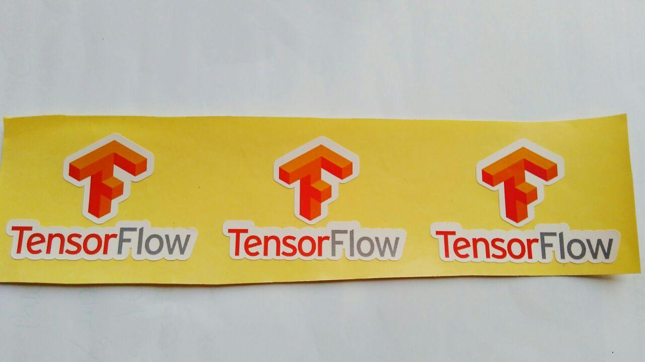 Stiker Tensor Flow - Vinyl 1