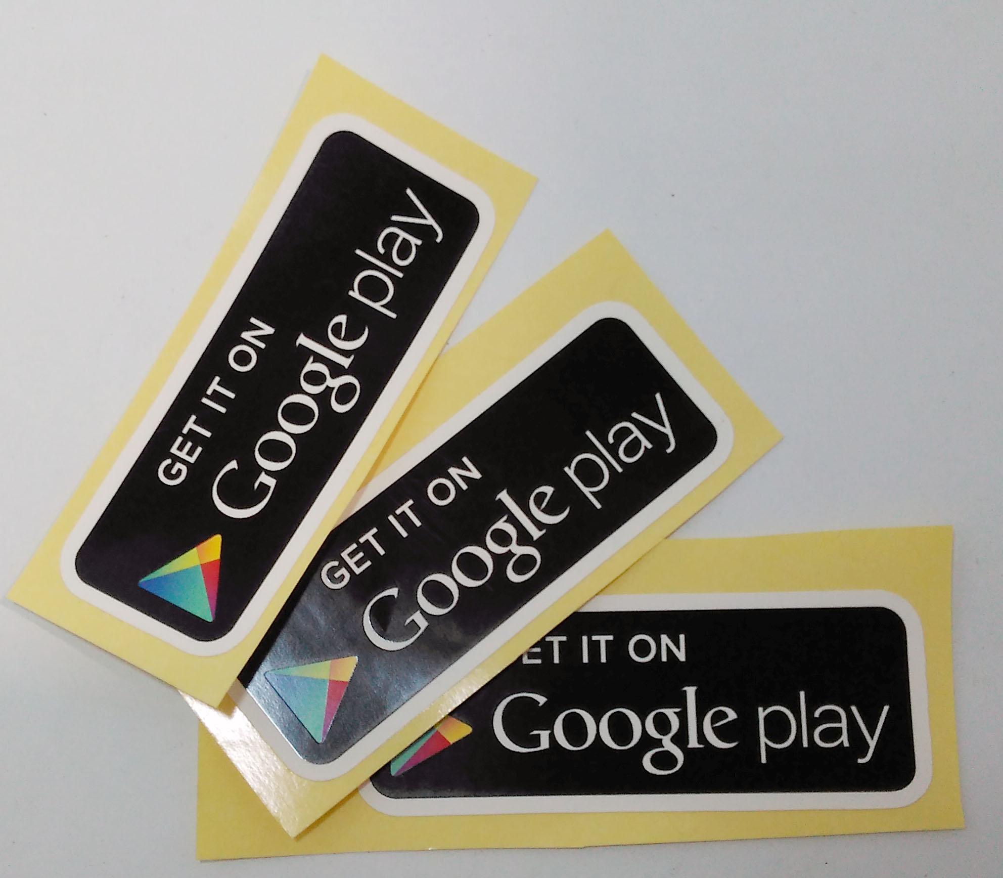 Stiker Google Play - Vinyl 1