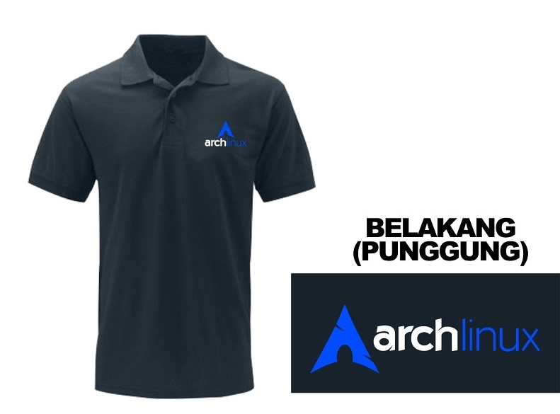 [PRE ORDER] Polo Arch Linux - LinuxGeekers 1