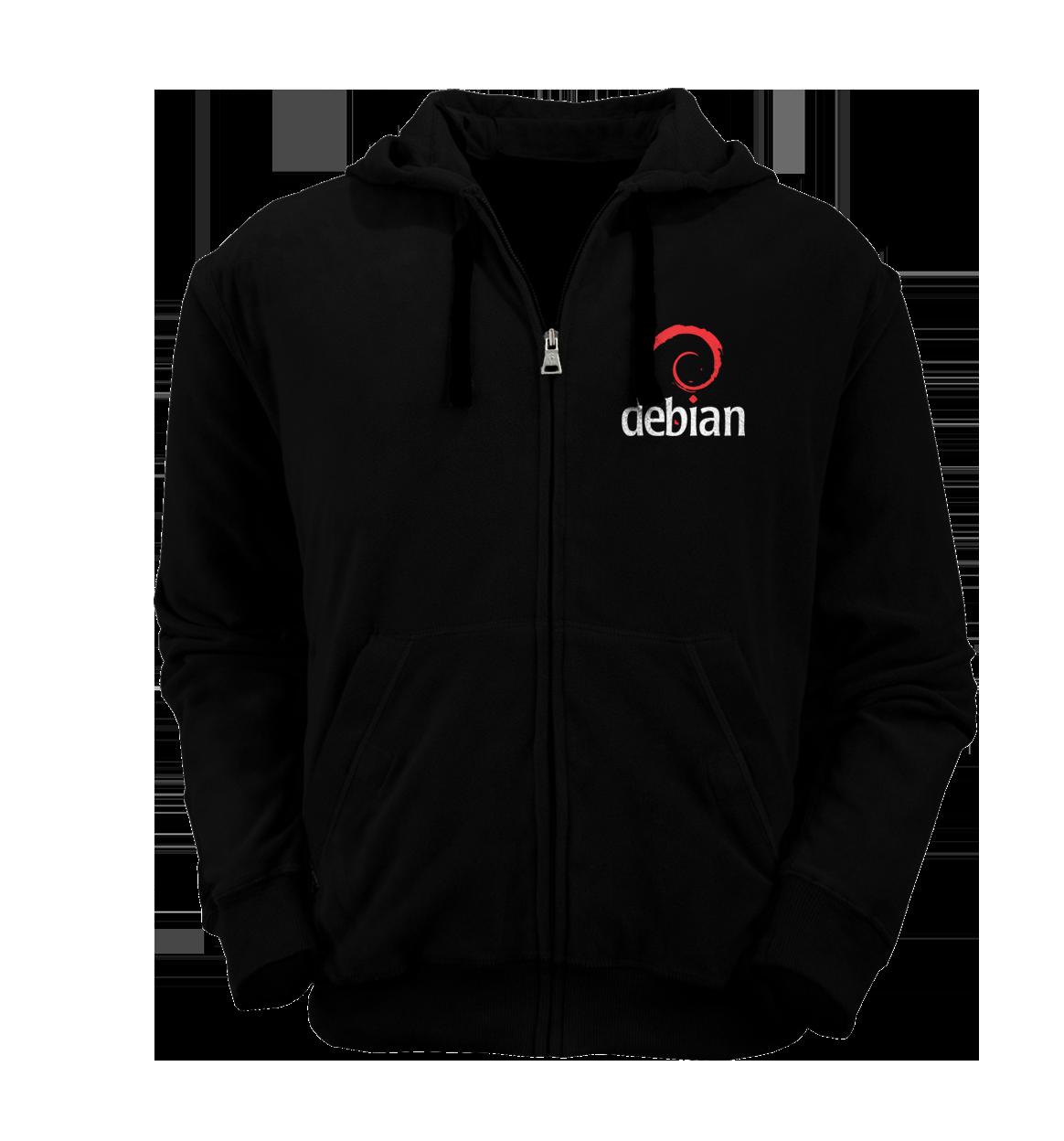 [PRE ORDER] Hoodie Zipper Debian 1