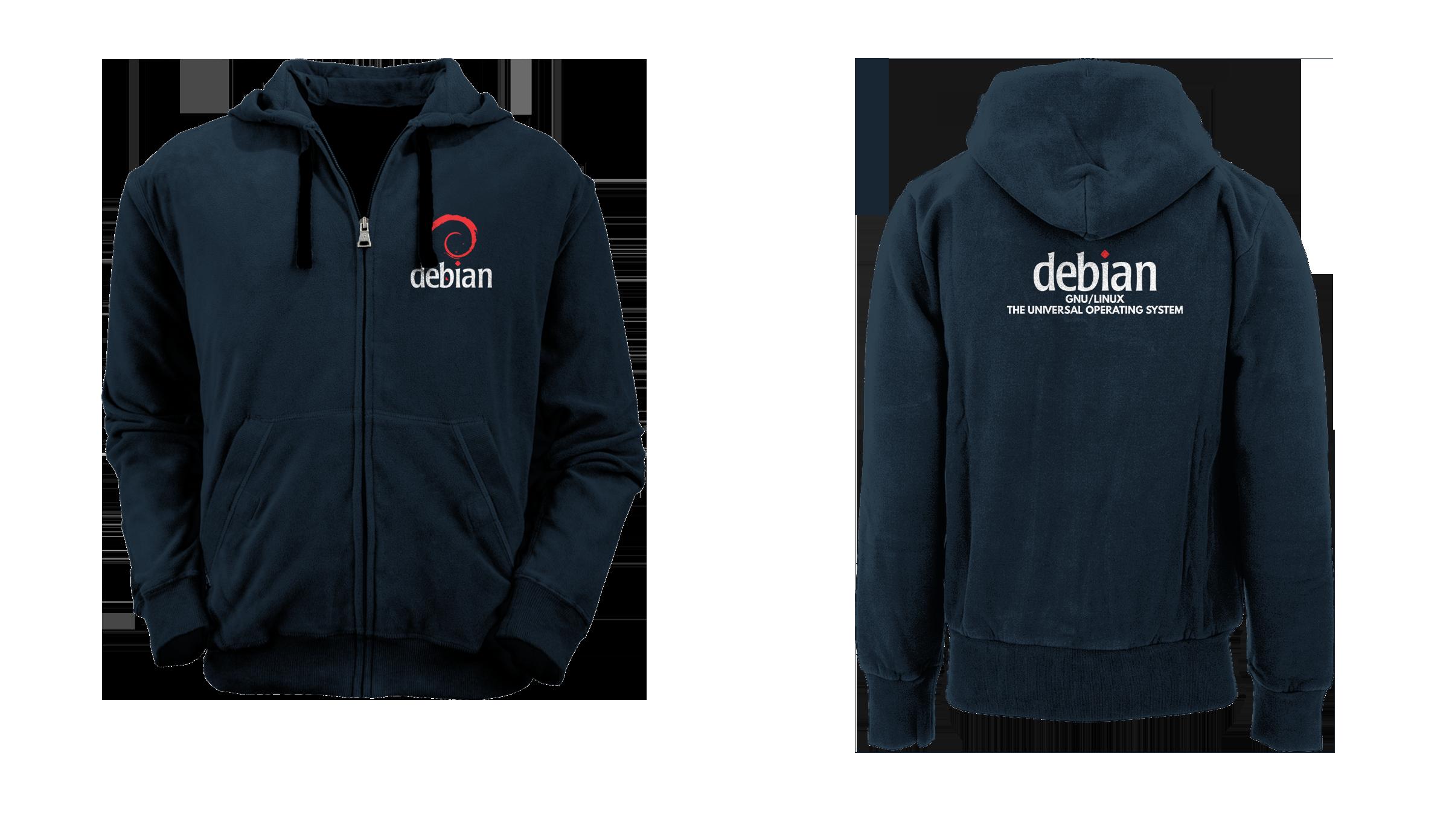 [PRE ORDER] Hoodie Zipper Debian 4