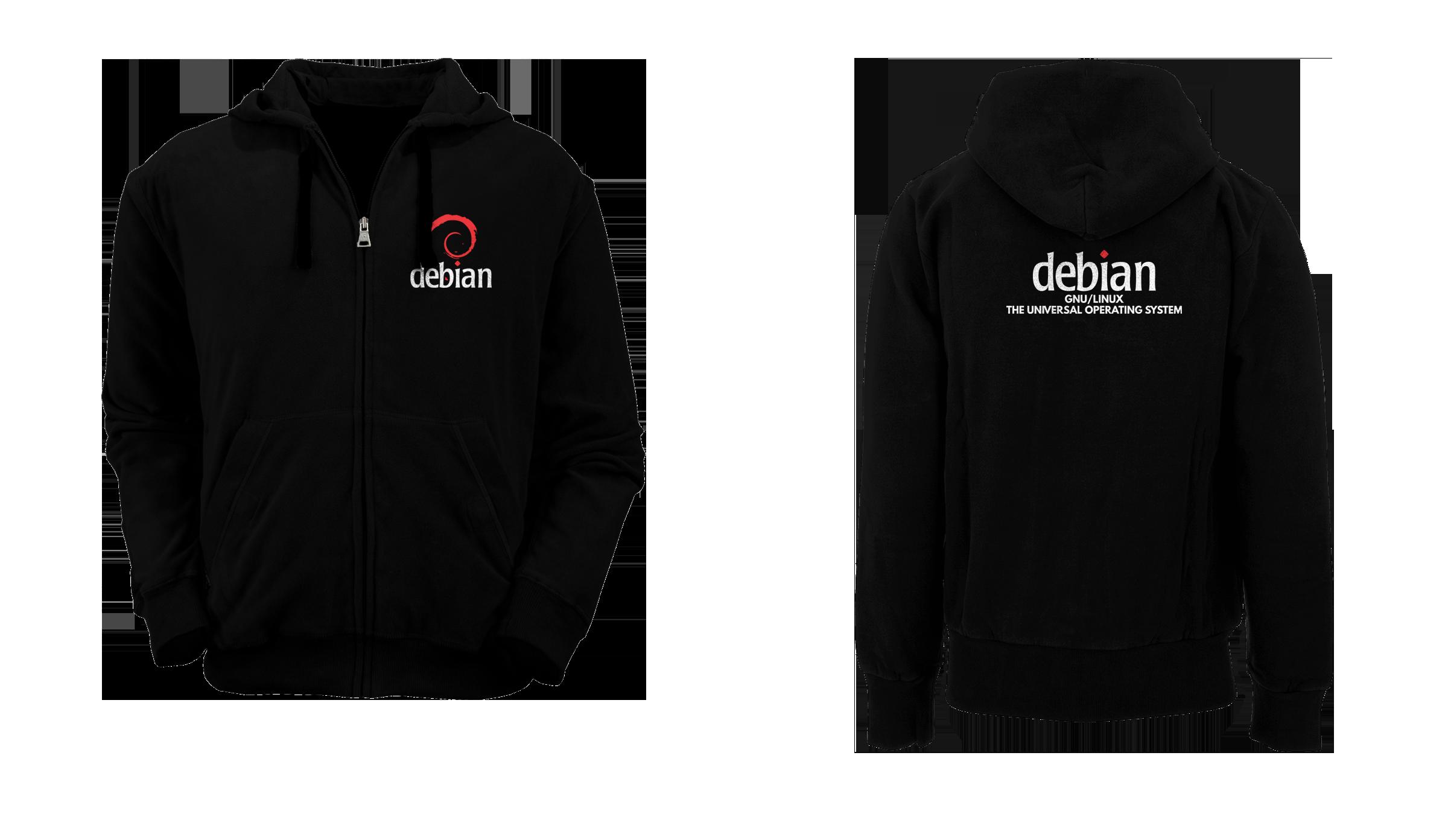 [PRE ORDER] Hoodie Zipper Debian 3