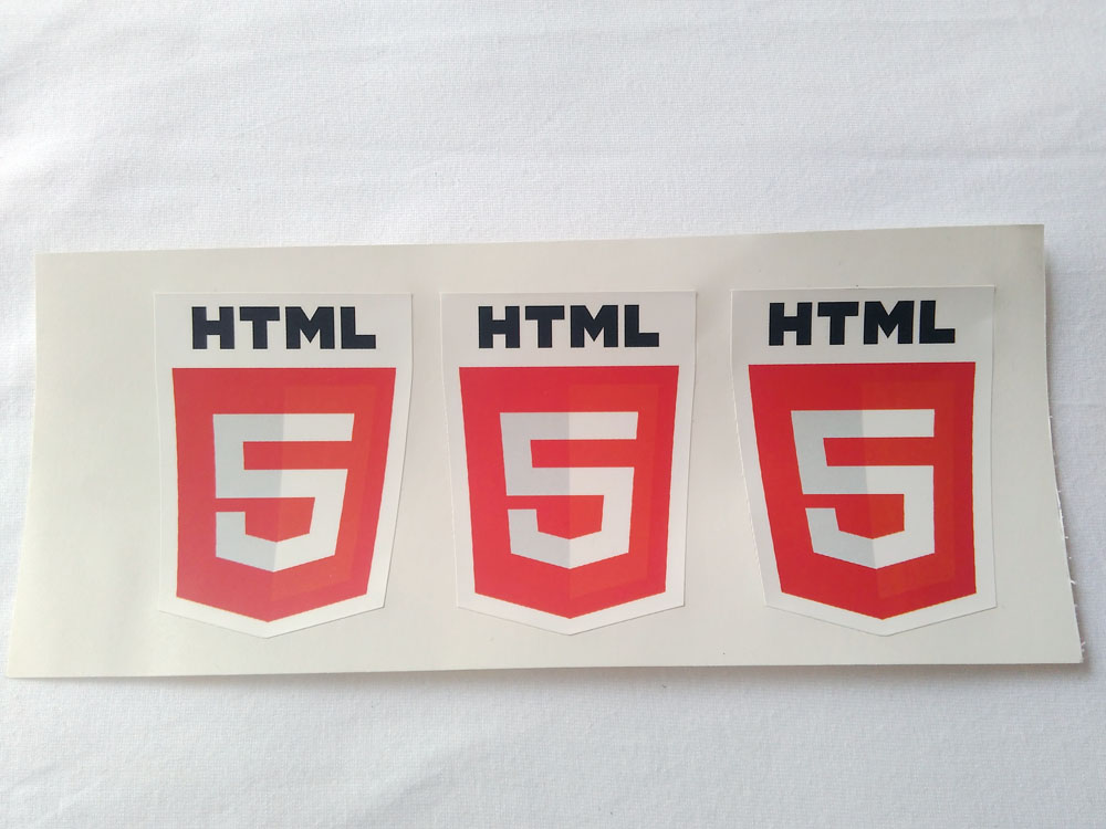 Stiker HTML5 - Vinyl 1