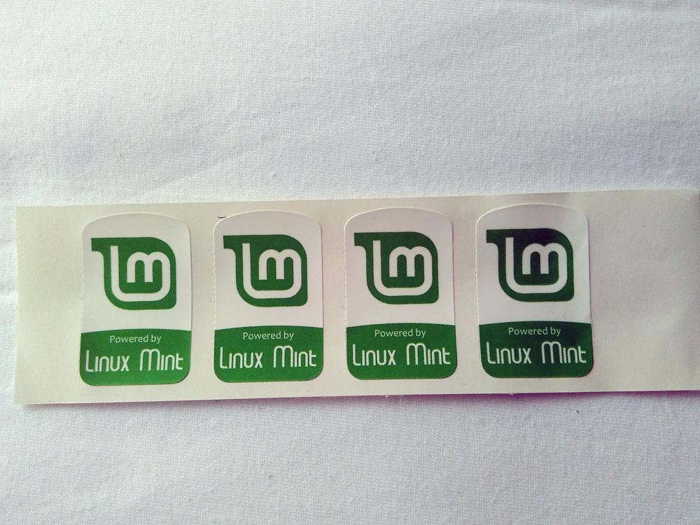 Stiker Badge Linux Mint 1