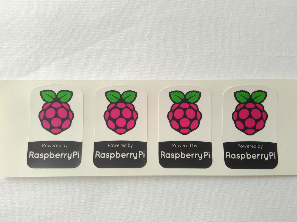 Stiker Badge Raspbery pi 1