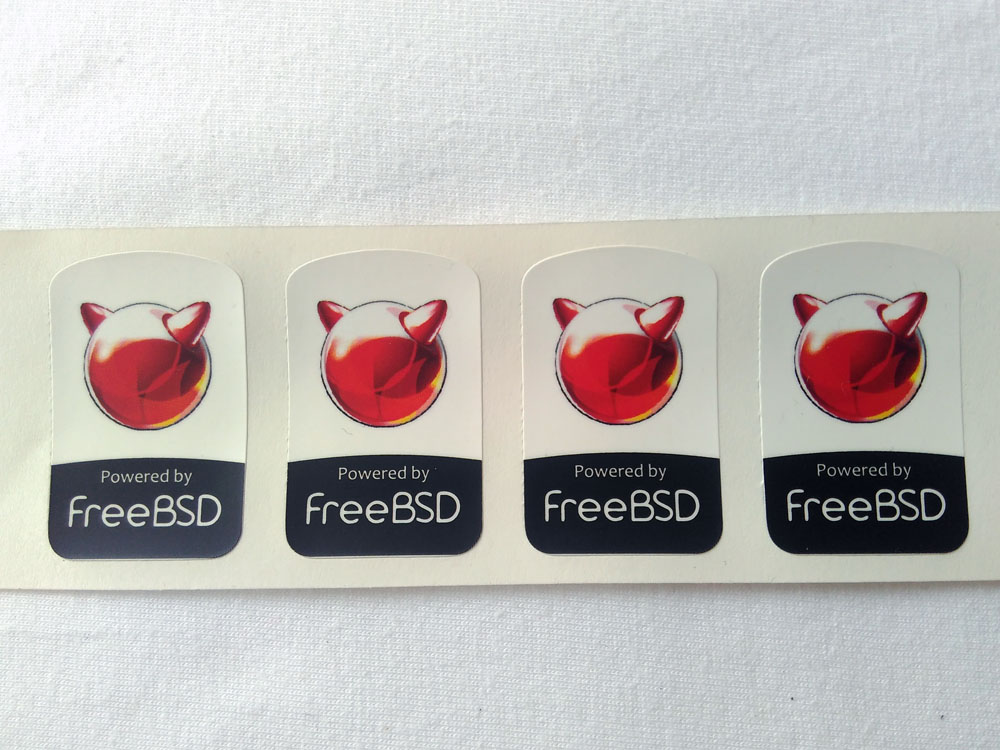 Stiker Badge FreeBSD 1