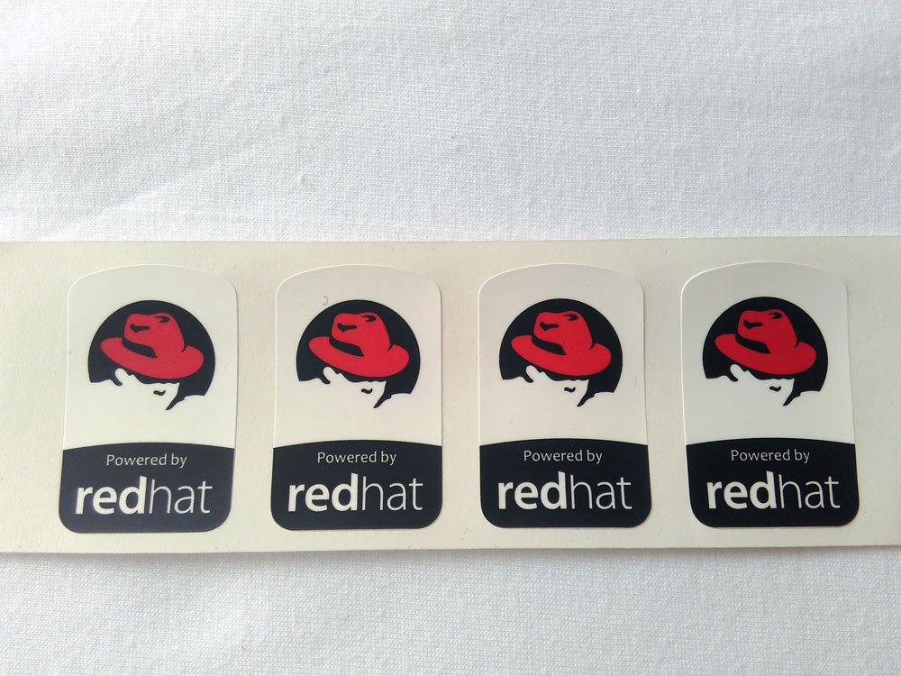 Stiker Badge Redhat 1