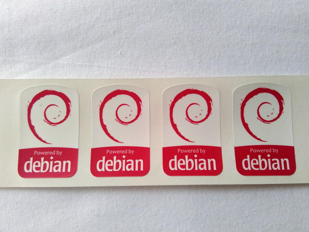 Stiker Badge Debian 1