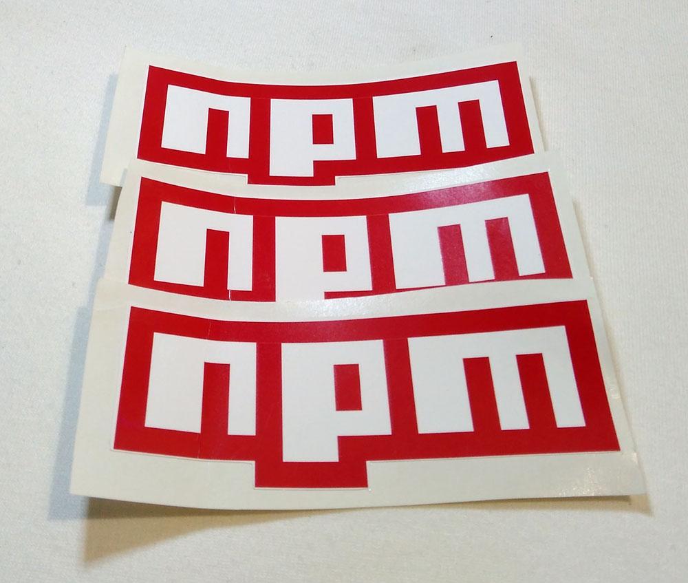 Stiker NPM - Vinyl 1