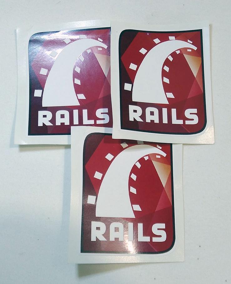 Stiker Ruby - Vinyl 1
