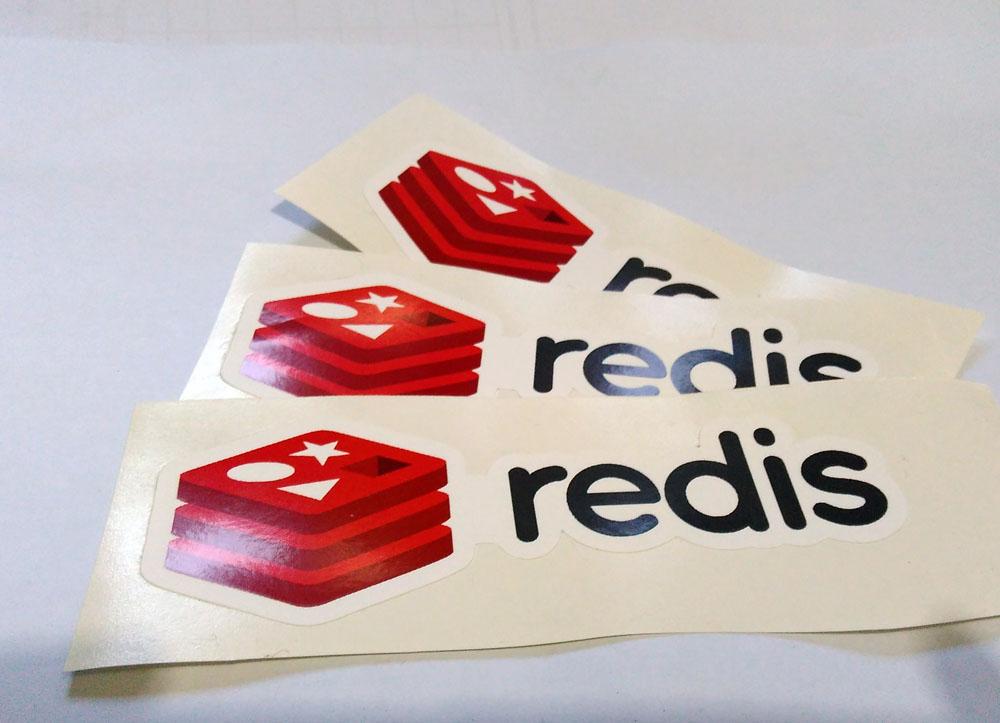 Stiker Redis - Vinyl 1