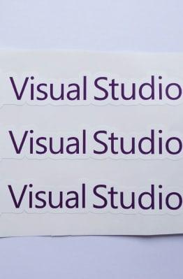 Stiker Visual Studio  - Vinyl Cut 1