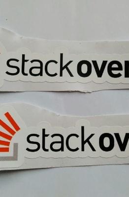 Stiker Stack Overflow - Vinyl 1