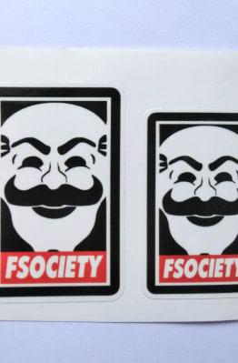 Stiker Fsociety -  Vinyl Cut 1