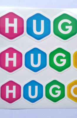 Stiker Hugo -  Vinyl Cut 1