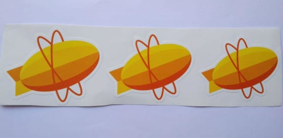 Stiker Zepplin -  Vinyl Cut 2