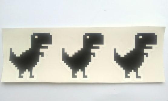 Stiker Offline Dinosaur - Vinyl Cut 2