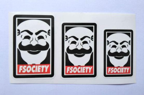 Stiker Fsociety -  Vinyl Cut 2