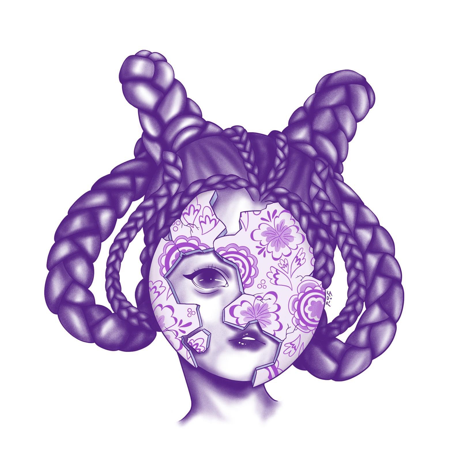 Purple porcelain