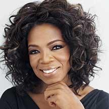 A headshot of Oprah Winfrey, TV Personality .