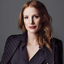 A headshot of Jessica Chastain, Actress.