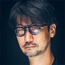 A headshot of Hideo Kojima, Game Designer.