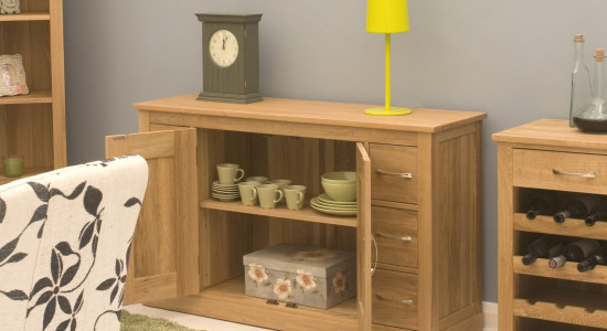 featured product mobel oak six drawer sideboard dining roomfeatured