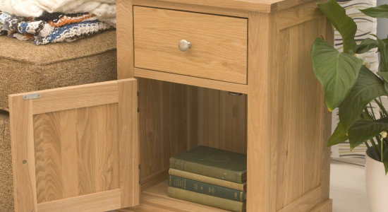 missing a bit of surface space in your living room or by your bedside the wooden furniture stores mobel oak single drawer lamp table could be a perfect
