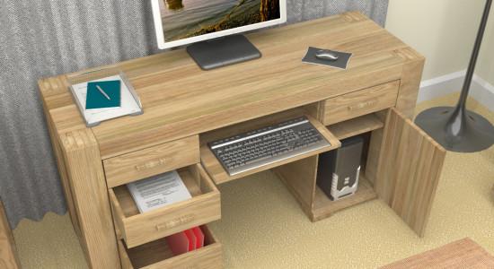 Atlas Oak Twin Pedestal Desk