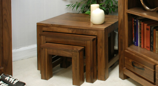 featured product mayan walnut coffee table nest