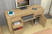 Atlas Oak Twin Pedestal Desk