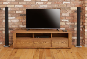 Olten Oak widescreen TV cabinet