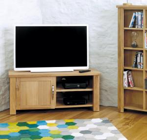 aston oak corner television unit