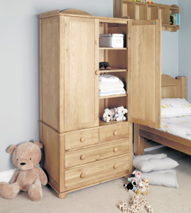 Moppet Oak double wardrobe