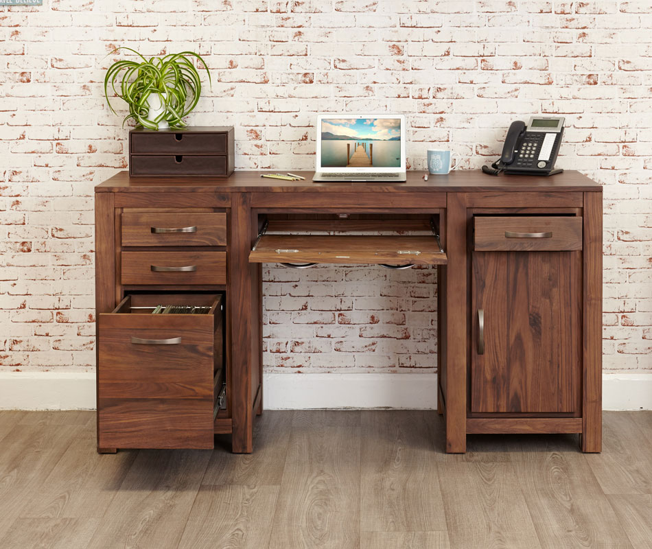 Home office furniture at wooden store