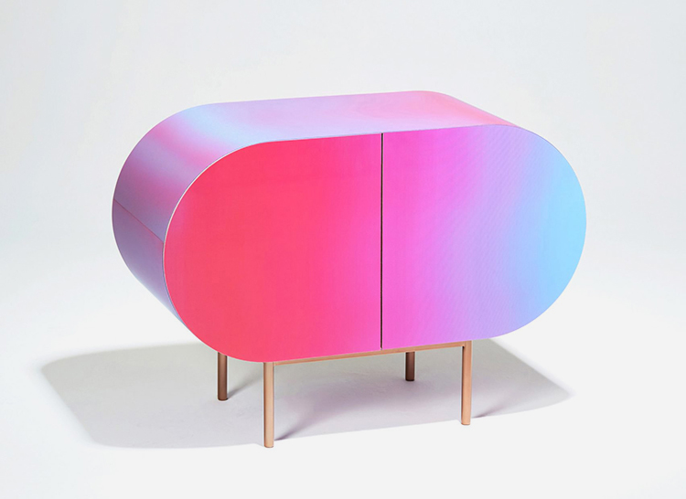 The sideboard that changes colour