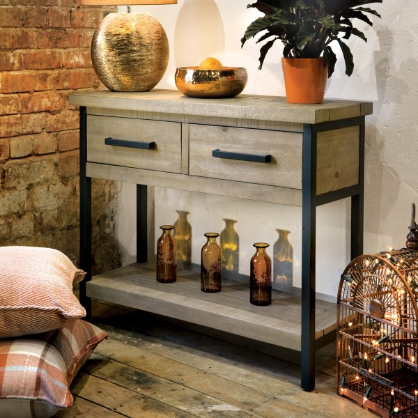 Hulstone Industrial console table