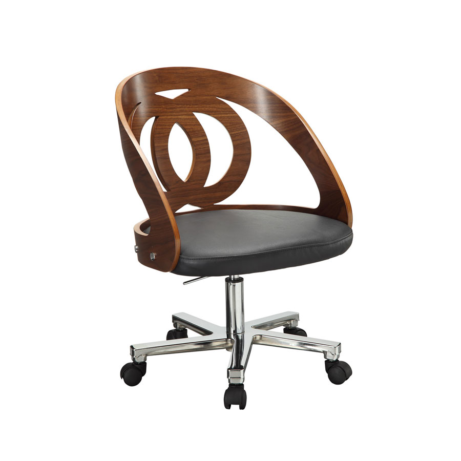 Curve Home Office Walnut Chair