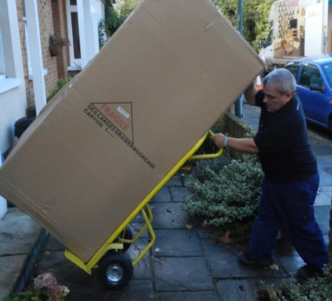 Careful furniture delivery