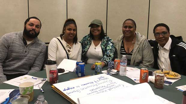 """Staff at the 2019 Foster Youth Summit conference"" Photo courtesy of Lutheran Social Services of Northern California"