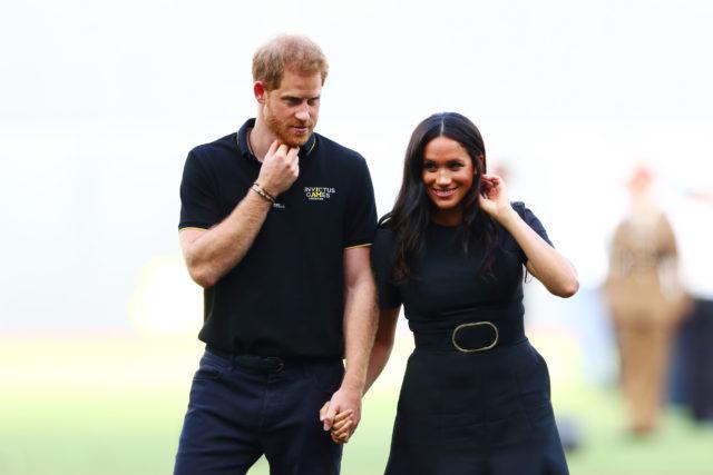 Первый совместный выход Меган Маркл и принца Гарри после отказа от звания членов королевской семьи