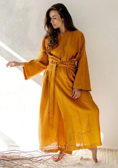 Сукня-кімоно із льону