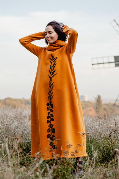Сукня з капюшоном та вибійкою ФРЕЯ